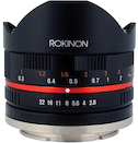 Rokinon 8mm f/2.8 UMC Fisheye for Sony NEX