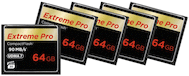 SanDisk CF 64GB Extreme Pro 90MB/s 5-Pack