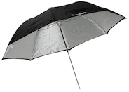 "Westcott 43"" Collapsible White / Black Umbrella"