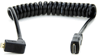 Atomos Right-Angle Micro to Mini HDMI 12in Coiled Cable