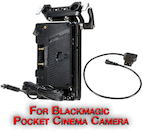 Blackmagic Pocket Camera Anton Bauer Gold Mount Power Kit