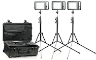 Manfrotto LYKOS Bi-Color LED 3-Light Studio Kit