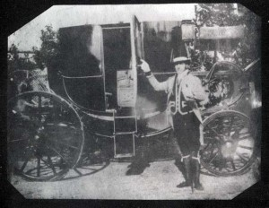 An image Talbot made of his Coachman. The exposure times of the day meant he had to hold this position for at least 3 minutes, probably more. That's a good Coachman there!