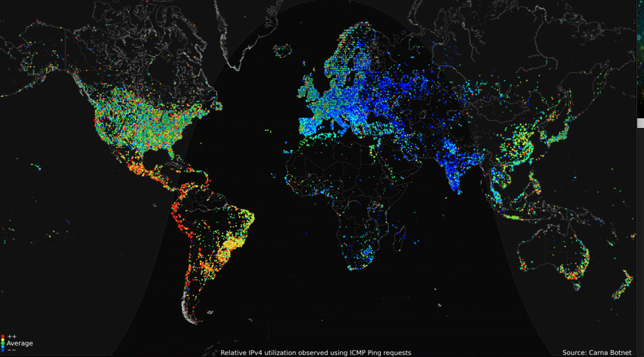 Source: Carna Botnet via Science, 2013.