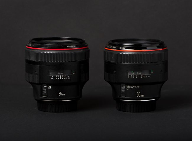 Canon 85mm f/1.2 Canon 50mm Comparison