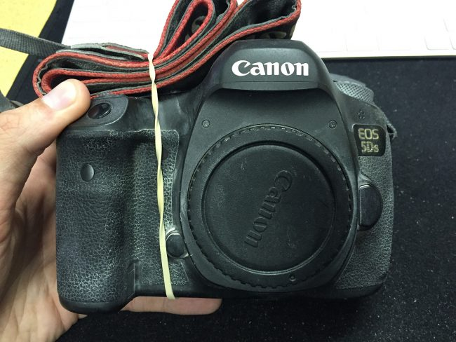 Canon 5DS Destroyed Burning Man