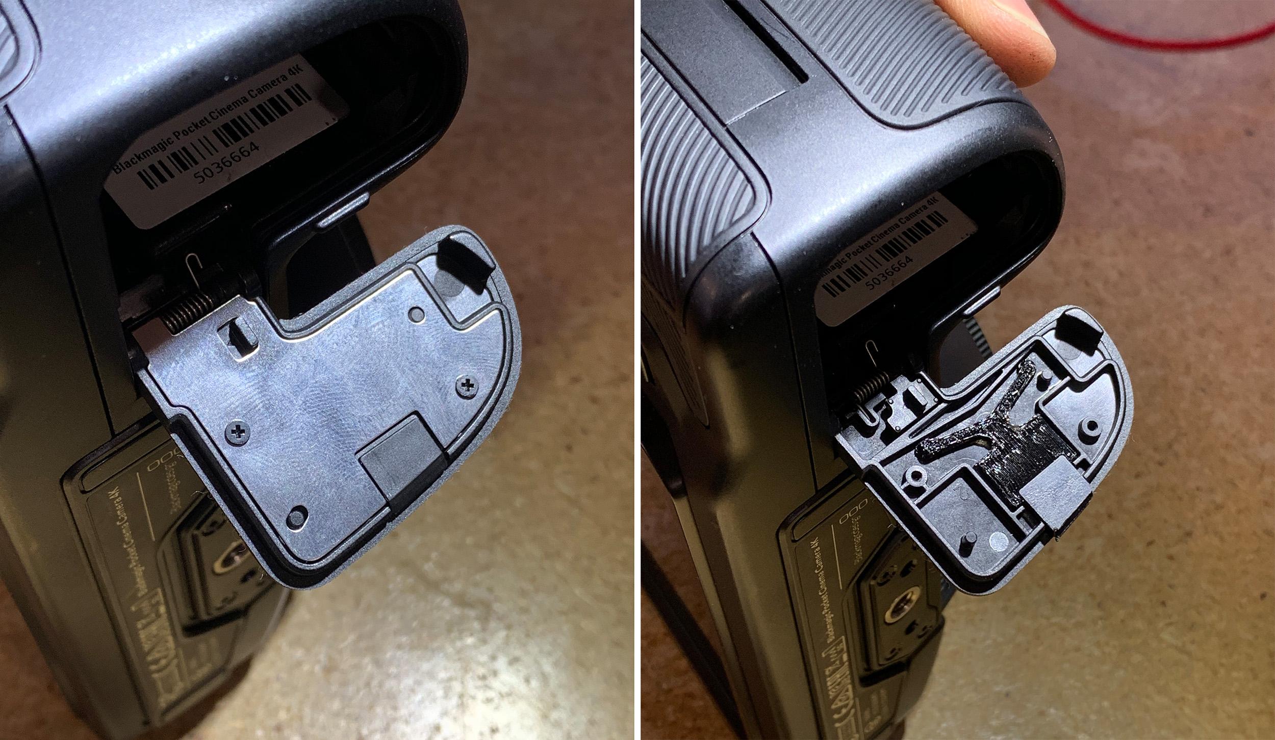 Problems – Fixing the Broken Battery Door of the Blackmagic