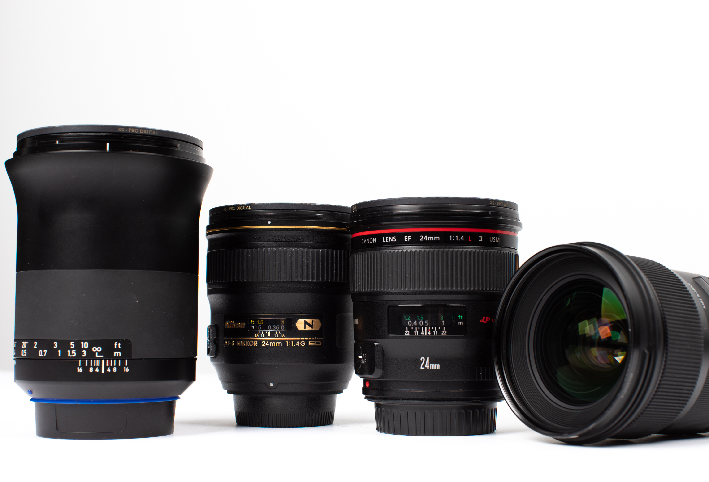 MTF Charts for 24mm Lenses