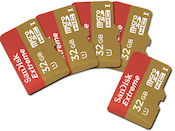Sandisk UHS-1 microSDHC 32GB Extreme 5-pack