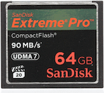 SanDisk CF 64GB Extreme Pro 90MB/s