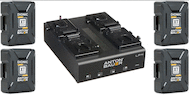 Anton Bauer XT90 V-Mount Power Kit w/ LP4 Quad Charger
