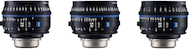 Zeiss Compact Prime CP.3 Standard 3-Lens Set (EF)