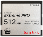 SanDisk 512GB Extreme PRO 525MB/s CFast 2.0