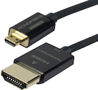 Monoprice 6ft Ultra Slim HDMI Male-Micro Cable