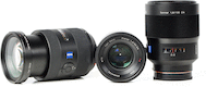 Sony Zeiss Three Lens Wedding Package for Sony A Mount