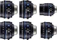 Zeiss Compact Prime CP.3 Cine 6-Lens Set (EF)