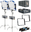 ARRI SkyPanel S30-C LED 26V Gold Mount 2-Light Location Kit
